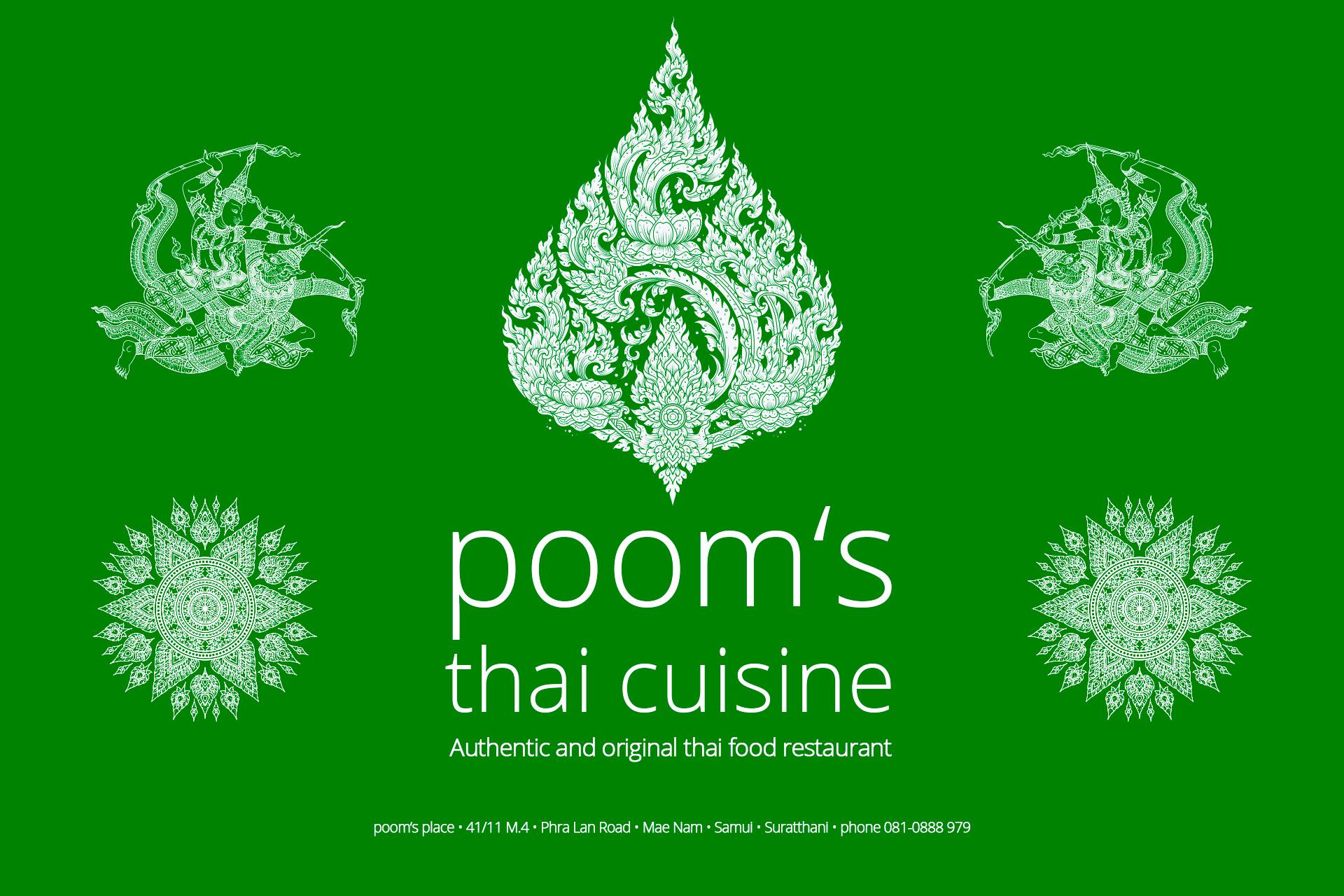Poom's Place Thai Restaurant auf Koh Samui, Mae Nam Beach