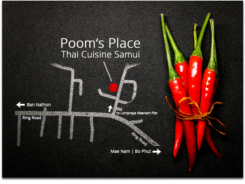 Poom's Place - Bestes Thai Food Restaurant in Mae Nam, Ko Samui